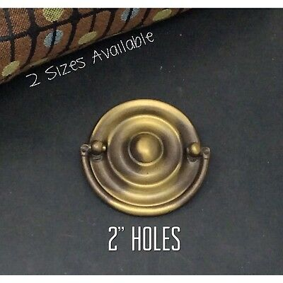 Antique Drawer Pulls Keeler Brass Round Hepplewhite Furniture Handle Holes 2""