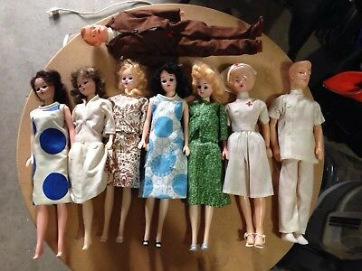 8 Vintage Barbie-like Dolls Lot. some have Opening and Closing Eyes CREEPY