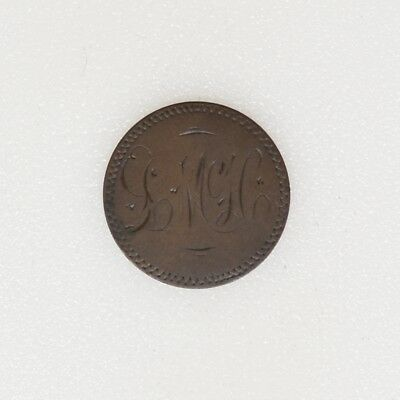 1890 LOVE TOKEN on an Indian Head Penny Cent Nice Color - I-14616 G
