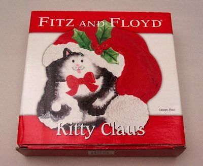 Kitty Claus Fitz & Floyd Christmas Canape Plate