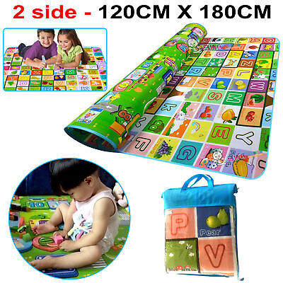 200X180Cm Kids Crawling 2 Side Soft Foam Educational Game Play Mat Picnic Carpet
