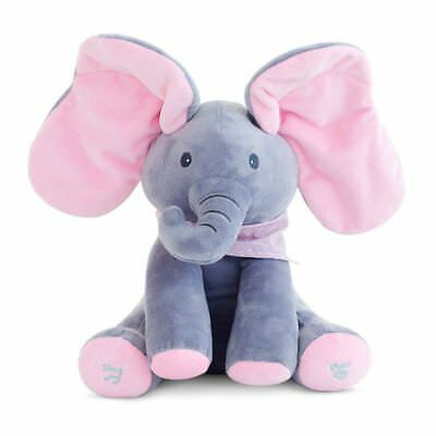 Elephant Flappy Peek A Boo Baby Animated Plush Music Animal Toy Hide And Seek