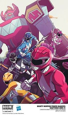 Boom! Studios Mighty Morphin Power Rangers #1 Shattered Grid EXCLUSIVE Rare