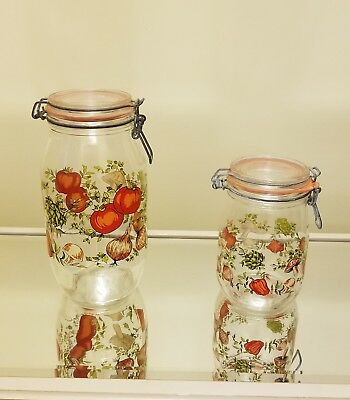 Vintage Arcoroc of France Mushroom Storage Jars