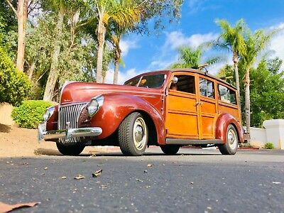 1939 Ford Wagon  1939 Ford Deluxe Woody Wagon ZZ4 SBC EFI Borg Warner 5 Speed California Cruiser
