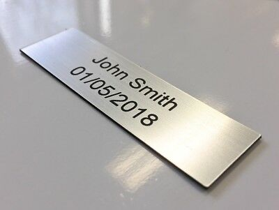Personalised Name Plates Laser Engraved Trophy Plaque / Name Plaque (Square Edge