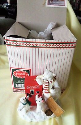 Coca-Cola Brand Heritage Collection Refreshing Treat Polar Bears + Coke Machine