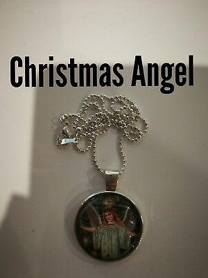 Code 434 Christmas Angel infused n Charged Necklace Gift Present Birthday Tree