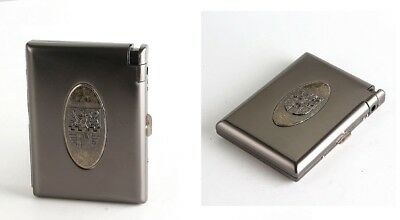 Cigarette Case Accessories Style With Lighter Metal Storage Box Tobacco Holder