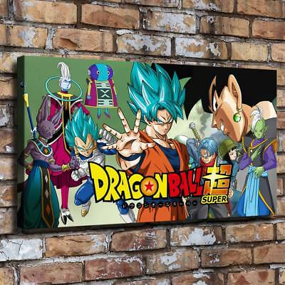 """12""""x22""""Dragon Ball Super Canvas prints Painting Room Home Decor Picture Wall art"""