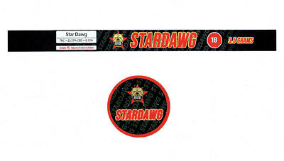 STARDAWG Cali Tin Labels Stickers / Tuna Can Labels 100ml