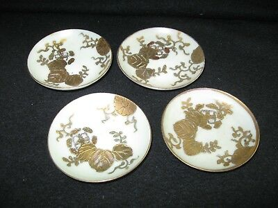 Old Gold Floral Design Butter Pats