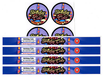 BIRTHDAY CAKE Cali Tin Labels Stickers / Tuna Can Labels 100ml