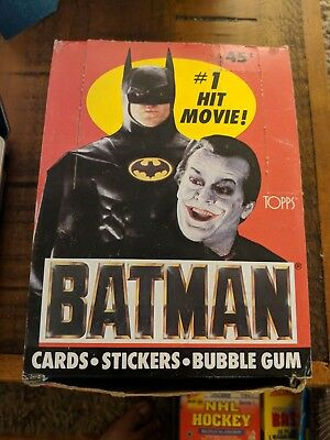 1989 Topps Batman Movie Trading Cards Box ~ 36 Wax Packs ~ Keaton~Nicholson