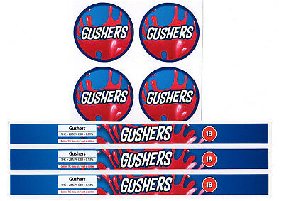 GUSHERS Cali Tin Labels Stickers / Tuna Can Labels 100ml