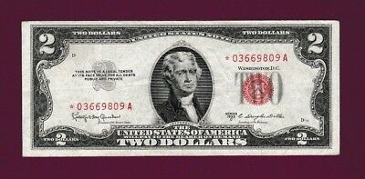 Fr.1512  $2  1953C  STAR  LEGAL TENDER RED SEAL UNITED STATES NOTE # *03669809 A