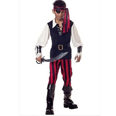 Cuththroat Pirate Costume Child Boys Large (10-12) Halloween 6 Piece Set NEW