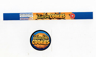 JAFFA CAKE COOKIES Cali Tin Labels Stickers / Tuna Can Labels 100ml