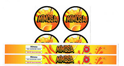 MIMOSA Cali Tin Labels Stickers / Tuna Can Labels 100ml