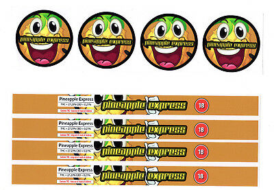 PINEAPPLE EXPRESS Cali Tin Labels Stickers / Tuna Can Labels 100ml