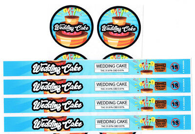 WEDDING CAKE Cali Tin Labels Stickers / Tuna Can Labels 100ml