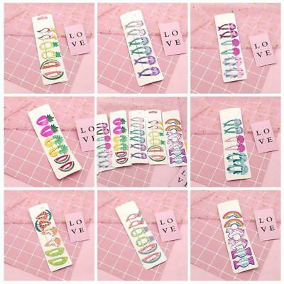 6X Hair Clips Snaps Hairpin Girls Baby Kids Hair Bow Accessories Gift Decor Hot