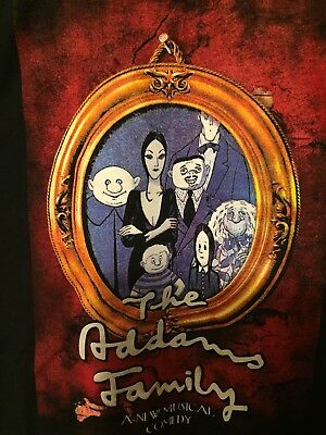 """The Addams Family """"A New Musical Comedy"""" SS Cotton Blk T-Shirt Men's Large NWOT"""