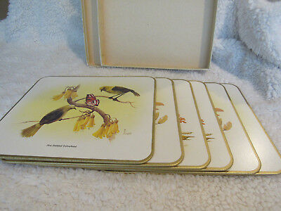 Vintage Jason Products Set Of 6 New Zealand Birds Placemats