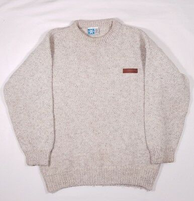 Norsewear Pure Wool Jumper Size XL White New Zealand Merino Vintage Retro