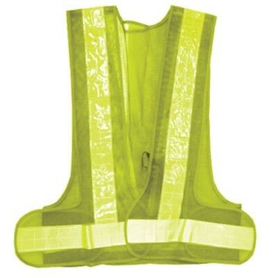 Universal Safety Work Vest 16 LED Flashing Lights Illuminated Reflective Strips