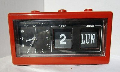 Great Brown Alarm Clock from UNKNOWN MAKER with Date and Month