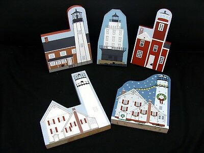 Delaware lighthouse collection - Cat's Meow shelf sitters lot