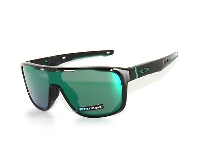 09ac6ad6573 Oakley Crossrange Shield 9387-03 Black Prizm Jade Iridium Sunglasses  Clearance