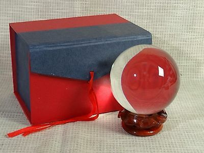 Nice 3.5 Crystal Ball w/Wood Stand, Magical Wizardry Fantasy WK