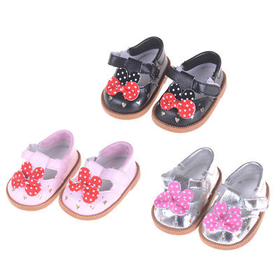 """Bowtie Shoes For Fit 18"""" Girl Doll 43cm Baby Doll Zapf Shoes Accessory s/"""