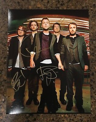 * ONE REPUBLIC * signed autographed 11x14 photo * RYAN TEDDER + 3 * PROOF * 1