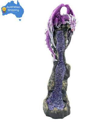 1pc Tall Dragon Incense Burner Blue / Purple Crystal Collectable