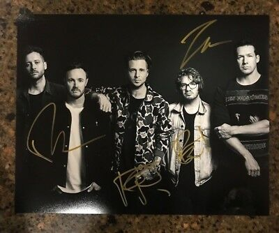 * ONE REPUBLIC * signed autographed 11x14 photo * RYAN TEDDER + 3 * PROOF * 2