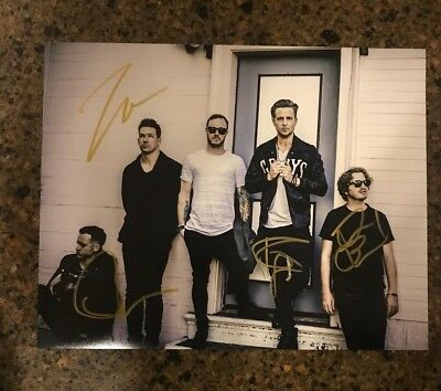 * ONE REPUBLIC * signed autographed 11x14 photo * RYAN TEDDER + 3 * PROOF * 3