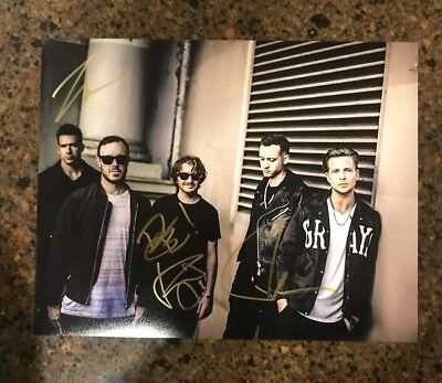 * ONE REPUBLIC * signed autographed 11x14 photo * RYAN TEDDER + 3 * PROOF * 4