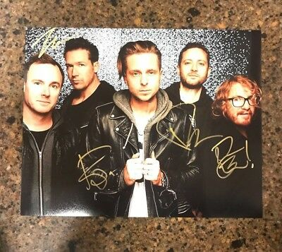 * ONE REPUBLIC * signed autographed 11x14 photo * RYAN TEDDER + 3 * PROOF * 5