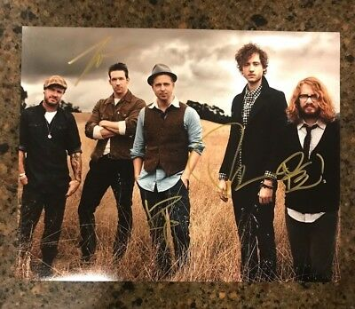 * ONE REPUBLIC * signed autographed 11x14 photo * RYAN TEDDER + 3 * PROOF * 6