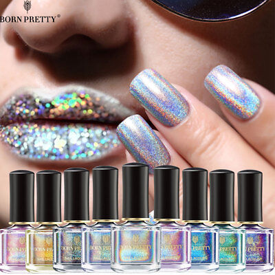 BORN PRETTY 80 Color Holographic Glitter Nail Polish Laser Nail Art  6ml