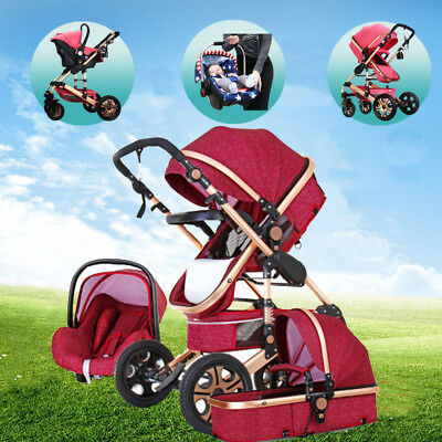 3 in 1 Baby Stroller with Car Seat For Newborns Foldable Baby Carriage Prams