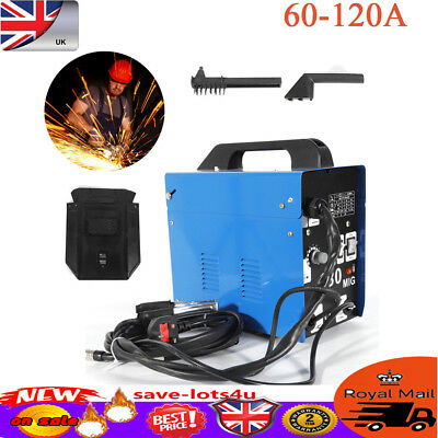 GASLESS 120A WELDER NO GAS FLUX CORE WIRE FEED PORTABLE WELDING MACHINE 230V New