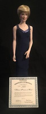Diana, Princess Of Wales - Franklin Mint Handcrafted Porcelain Doll