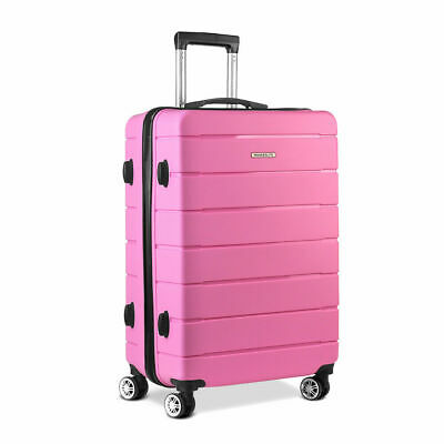 "Wanderlite Polypropylene Luggage 28"" Suitcase PP Trolley TSA Travel Hard Case PK"
