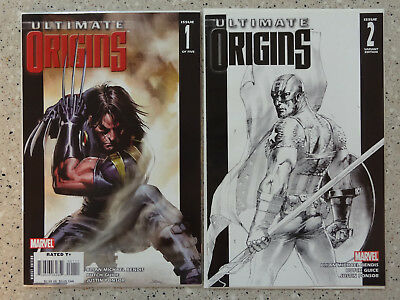 Ultimate Origins #1 & #2 - 2 Comic Lot, includes Dell Otto Sketch Variant (#2)