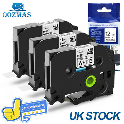 3PK Compatible Brother P-Touch TZe 231 TZ Laminated Label Tape Printer 12mm x8m