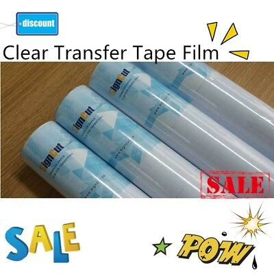 """12 Rolls 9"""" x 11 yards Clear Transfer Tape Film for Vinyl Graphics Application"""